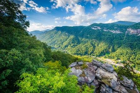 View from Pulpit Rock, at Chimney Rock State Park, North Carolina.