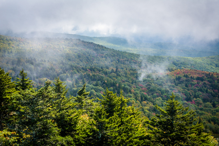 wnc: View of the Blue Ridge Mountains from Grandfather Mountain, North Carolina.