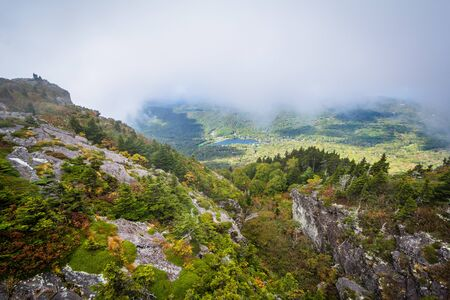 wnc: View of the rugged landscape of Grandfather Mountain, near Linville, North Carolina.