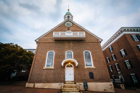 The Home Moravian Church, in the Old Salem Historic District, in Winston-Salem, North Carolina.