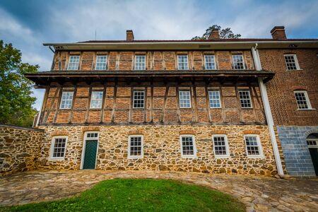 Old building in the Old Salem Historic District, in downtown Winston-Salem, North Carolina.