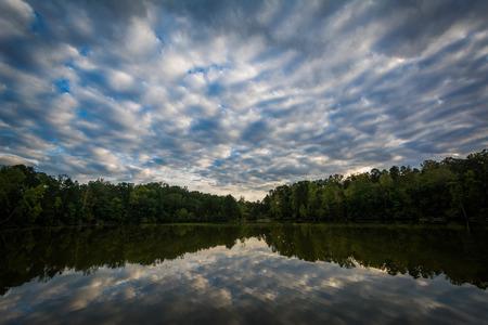 charlotte: Dramatic sky over Lake Norman, at Lake Norman State Park, North Carolina.