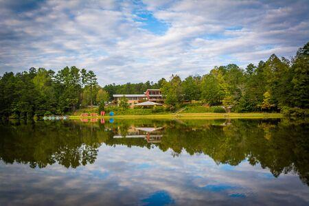 charlotte: Beautiful reflections at Lake Norman State Park, North Carolina.
