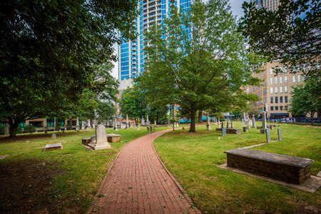 Cemetery in the historic Fourth Ward of Charlotte, North Carolina.