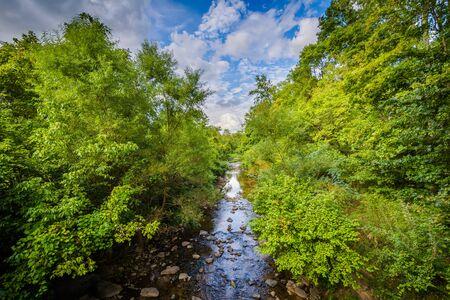 charlotte: Little Sugar Creek, at Freedom Park, in Charlotte, North Carolina.