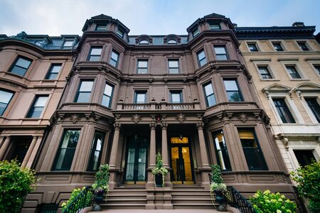 brownstone: Historic buildings in Back Bay, Boston, Massachusetts.