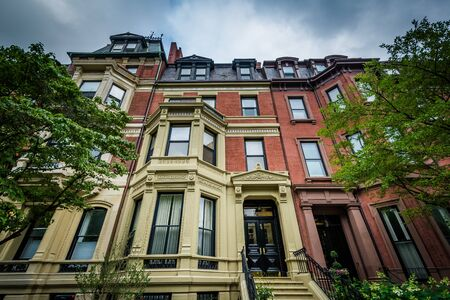 Historic buildings in Back Bay, Boston, Massachusetts.