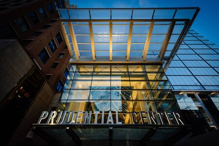 prudential: The Prudential Center, in Back Bay, Boston, Massachusetts.