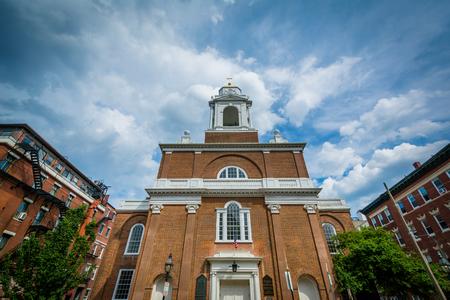 St. Stephens Catholic Church, in the North End of Boston, Massachusetts.