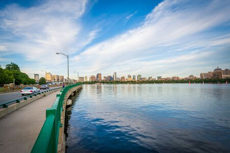 The Charles River, in Cambridge, Massachusetts. Stock Photo