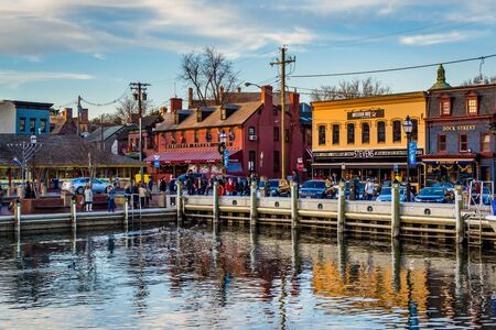 View of the waterfront in Annapolis, Maryland.