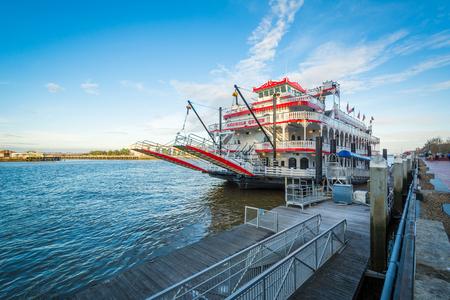 The Georgia Queen Riverboat, in Savannah, Georgia. Editorial