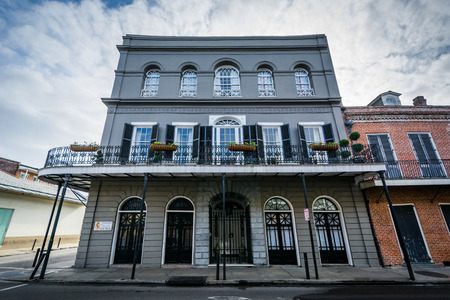 Buildings in the French Quarter, in New Orleans, Louisiana,