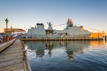 The HDMS Peter Willemoes, in Fells Point, Baltimore, Maryland. Editorial