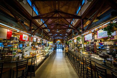The interior of Broadway Market, in Fells Point, Baltimore, Maryland. Editorial