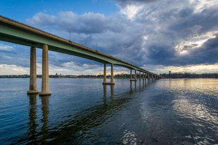 The Naval Academy Bridge over the Severn River, in Annapolis, Maryland.
