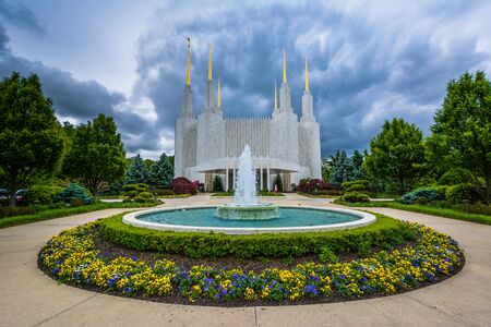 lds: The Church of Jesus Christ of Latter-day Saints Washington, DC temple, in Kensington, Maryland.