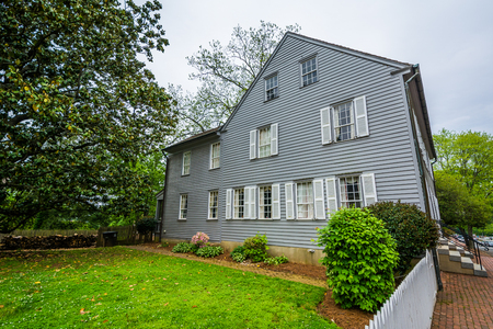 House and yard in Old Salem, Winston-Salem, North Carolina.