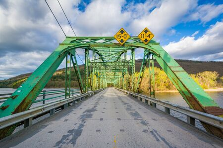 Bridge over the Connecticut River, in Brattleboro, Vermont. Stock Photo - 79328222