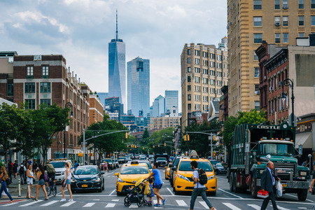 6th Avenue in Greenwich Village, Manhattan, New York City. 新闻类图片
