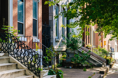 Row houses in Spring Garden, Philadelphia, Pennsylvania