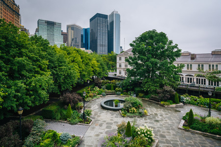 View of Battery Park, in New York City Stock Photo