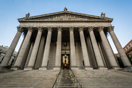 The New York County Supreme Court, in Lower Manhattan, New York City. Banco de Imagens
