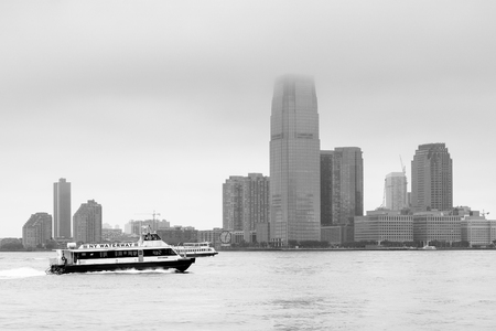 View of Jersey City from Battery Park, in Manhattan, New York City.