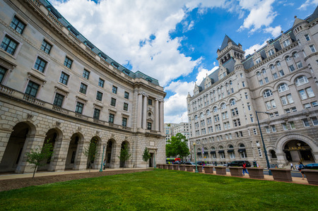 The Old Post Office and Ronald Reagan Building in downtown Washington, DC. Editorial