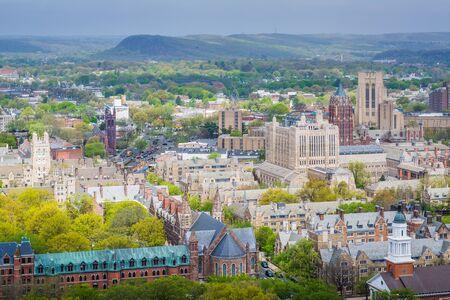 Vue de l'Université de Yale à New Haven, Connecticut