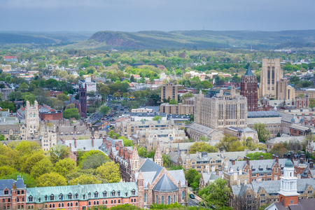 View of Yale University in New Haven, Connecticut Imagens