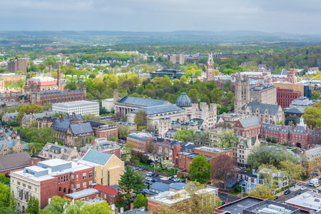 View of Yale University in New Haven, Connecticut Stock Photo