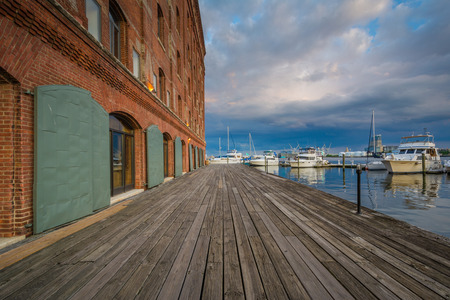 Hendersons Wharf, in Fells Point, Baltimore, Maryland Editorial