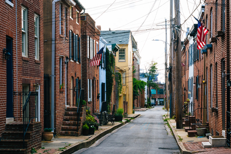 Churchill Street in Federal Hill, Baltimore, Maryland
