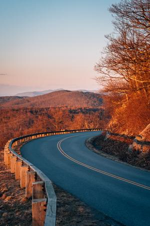 Evening view of the Blue Ridge Parkway, near Afton, Virginia