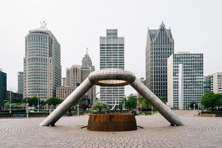Hart Plaza, in Detroit, Michigan