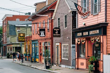 Derby Street, in Salem, Massachusetts Editorial