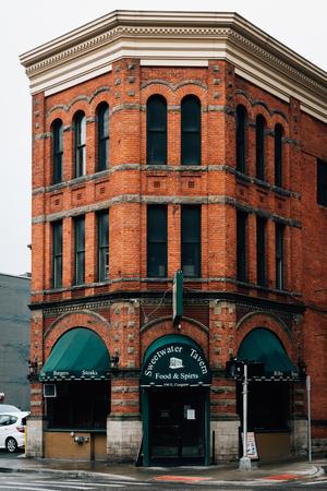 Brick building in Detroit, Michigan