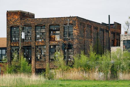 Abandoned buildings in Detroit, Michigan