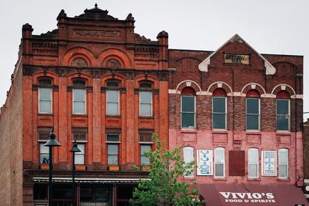 Historic buildings in Eastern Market, Detroit, Michigan 報道画像