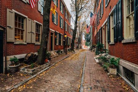 Philip Street in Society Hill, Philadelphia, Pennsylvania.