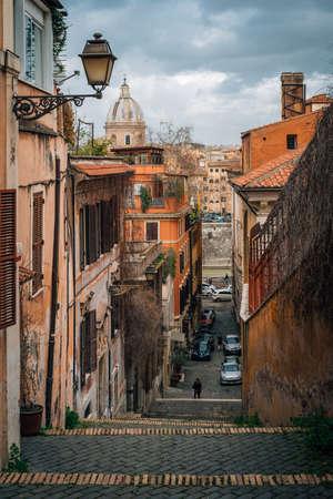 Staircase in Trastevere, Rome, Italy