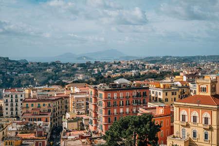 View from Castel Sant'Elmo, in Naples, Italy 免版税图像