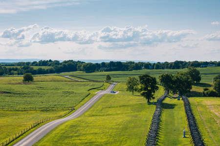 View of fields at Antietam National Battlefield, Maryland