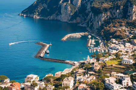 View of Marina Grande, in Capri, Italy 免版税图像