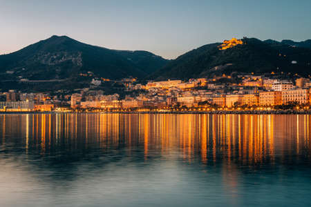 View of the shore of Salerno, in Campania, italy