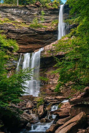 Kaaterskill Falls, in the Catskill Mountains, New York 免版税图像