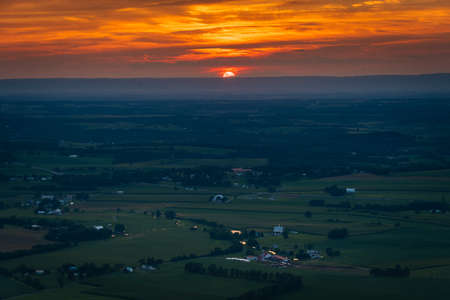 Sunset view from High Rock, along the Appalachian Trail at Pen Mar Park, Washington County, Maryland