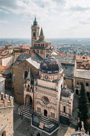 The Basilica of Santa Maria Maggiore, in Bergamo, Italy