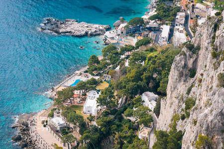 View of Marina Piccola, in Capri, Italy 免版税图像